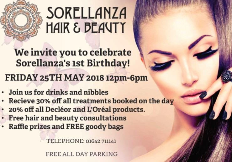 1st Birthday Celebrations for Sorellanza Hair & Beauty